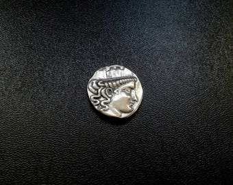 Greek ancient coin Smyrna 2nd century BC reproduction |ancient coin Smyrna |Ionia Smyrna coin |Greek ancient tetradrachm |IMYPNAIΩN
