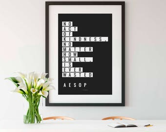 AESOP, Art Print, Aesop Print, Aesop Quote, Philosophy, Philosophy Quote, Philosophy Gift, History teacher gift, Philosophy Print, 8x10, 4x6