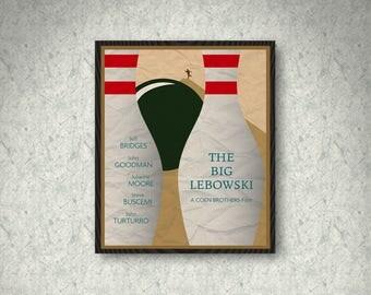 The Big Lebowski Movie Poster Print, Home Decor, Print Art Poster