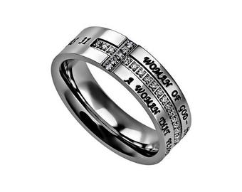 """Crescent Ring """"Woman Of God"""""""
