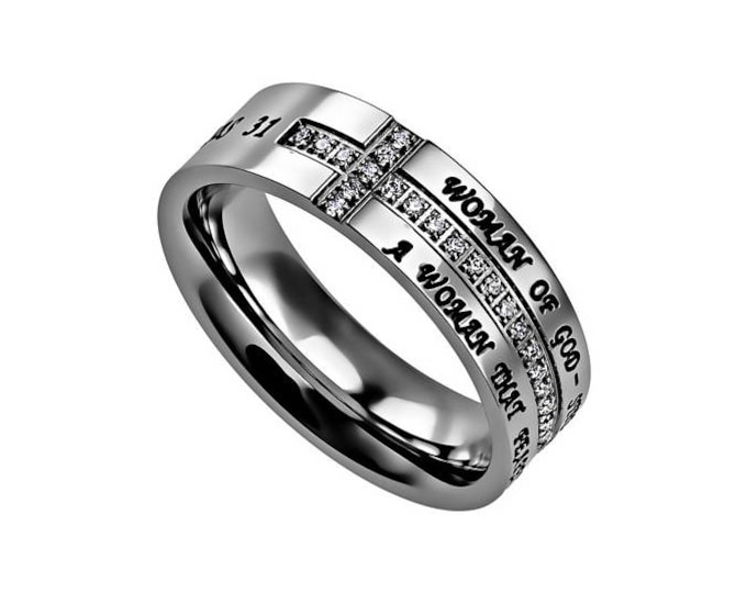 "Crescent Ring ""Woman Of God"""