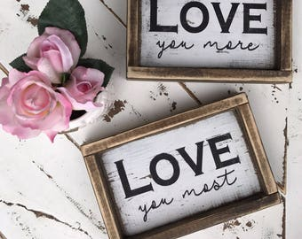 Love - Valentine's Day - anniversary gift - gift - rustic decor - rustic signs - gallery wall - mantle decor - master bedroom - xoxo