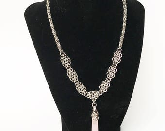 Chainmail Necklace, Byzantine Necklace, Chainmaille Jewelry, Medieval Necklace, Cosplay Accessories, Gifts for Her, Necklaces for Women