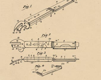 Kitchen tool Patent #1,697,974 dated Jan 8, 1929.