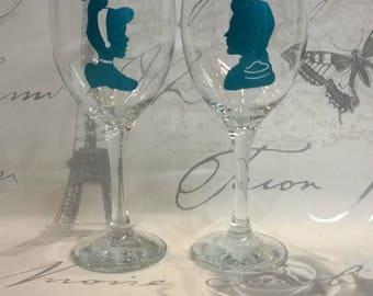 Mason Jar Wine Glass Set Of 4 Glasses DIY Wedding Baby