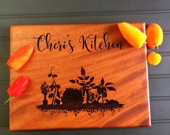 Cutting Board, Custom Cutting Board, Friend Gift,Kitchen, Christmas Gift, Gift for Mom, Engraved Board, Mahogany Cutting Board