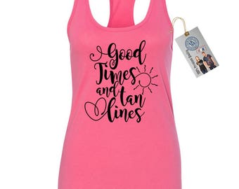 Good Times and Tan Lines Women's Racerback Tank Top