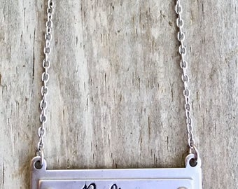 Believe Silver Bar Necklace