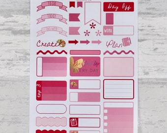 PINK Weekly Sampler Set - Stickers for Planners!