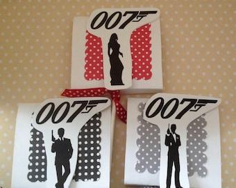 James Bond, 007 Party Lollipop Favorfs - Set of 10