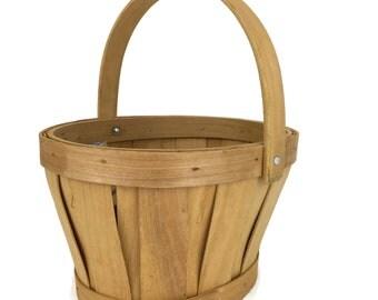 Bent Wood Basket for Flower Girl Basket for Rustic Wedding