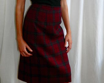 Plaid Pencil Skirt {JH Collectibles} Wool Knee-Length, Size 6/8