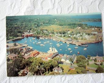 Camden Maine Postcard, Vintage 1964 Camden Harbor Postcard, Vintage Camden Postcard, Penobscot River