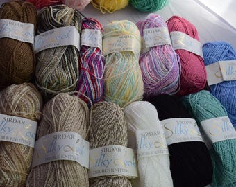 Silky Look Acrylic Yarn in various colors