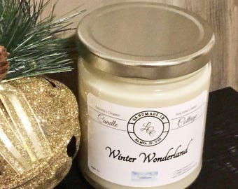 Organic Winter Wonderland Soy Candle-Pure Essential Oil Candle-Naturally Scented Candle-Vegan Candles Valentine Day Gifts-Winter Scent-