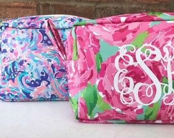 Lilly Inspired Monogram Make-Up Bag