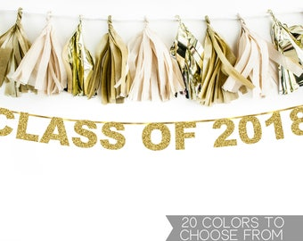 Graduation Banner, Class of 2018, Graduation Party Decorations,Custom Graduation Banner,