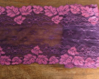 Stretch Lace - Purple & Fuchsia