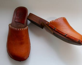 Stella Shoes | vintage Italian leather clogs size 9