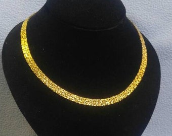 "Gold Nugget Look 8 mm wide 18"" Chain"