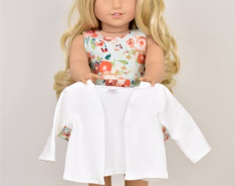 Cardigan 18 inch doll clothes Color Ivory