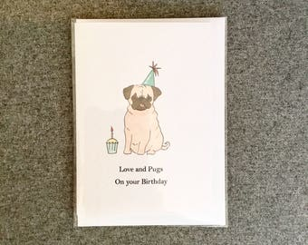 Love and Pugs on your Birthday