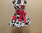 Cow Print Rockabilly Pin Up Apron