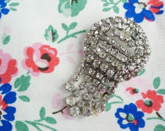 Sixties Art Deco Revival Cascading Brooch