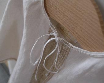 Baptism cloak, Baptismal pelmet, White linenchristening mantle, Baby robe, Christening veil