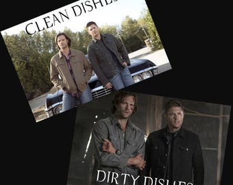 Supernatural Dishwasher Magnet | Winchester Brothers | Sam and Dean | Clean Dirty Magnet