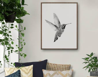 Hummingbird, Hummingbird Art, Hummingbird Print, Animal Art Print, Animal Art, Animal Wall Art, Bird Art, Hummingbirds, Nursery, Printable