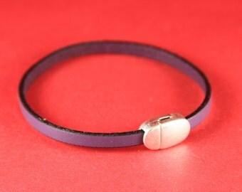5A/10 MADE IN EUROPE zamak magnetic clasp, 5mm flat cord clasp, bracelet clasp, flat cord magnetic clasp (78929/05) Qty1