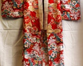 Beautiful red patchwork kimono