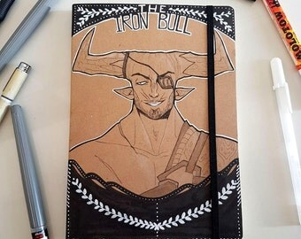 Customized Hardcover Sketchbook - Dragon Age Inquisition • The Iron Bull