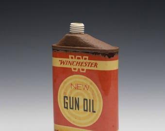 "Porcelain Flask ""Winchester Gun Oil"""