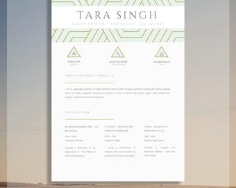 resume design etsy