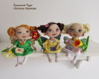 Textile doll Summer fairy