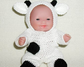 Cow Outfit for the Itty Bitty Baby by Berenguer Lots to Love Baby Doll