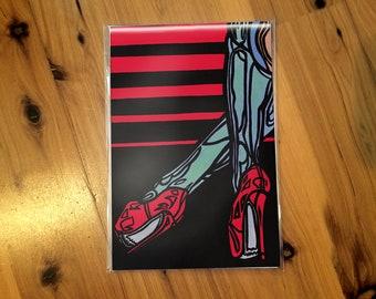 """Tanja"" Abstract Pin Up Print [open edition, 4x6""]"