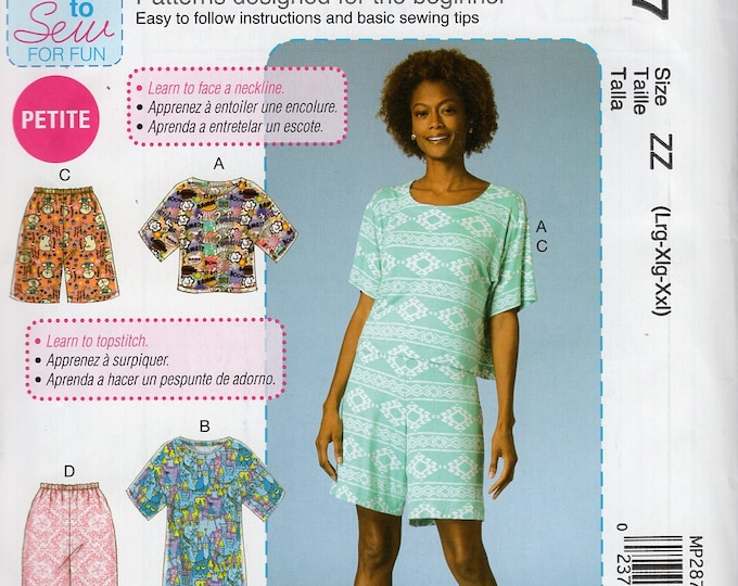 FREE US SHIP McCall's 287 7515 Sewing Pattern Learn to Sew Pj's Pajamas Nightshirt Size 4/14 16/26 Bust 29 30 32 34 36 38 40 42 44 46 48