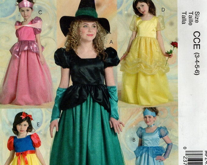 FREE US SHIP Sewing Pattern McCall's 245 Girls Disney Princess Witch Halloween costume Out of Print  Size 3-6 Toddler Uncut Size 3 4 5 6