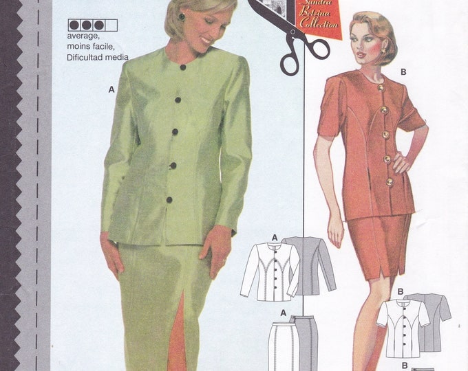 FREE US SHIP Burda 3202 Sewing Pattern Top Jacket Skirt Size  8 10 12 14 16 18 Bust 31 32 34 36 38 40 Uncut Factory Folded