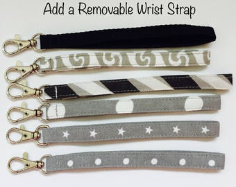 Add Wrist Strap to Your Zipper Pouch or Purse; Wristlet Strap; Removable Wrist Strap; Wristlet Wrist Strap; Pouch Wrist Strap; Wallet Strap