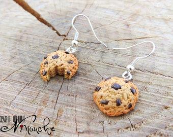 Half chewed cookies (fimo) earrings