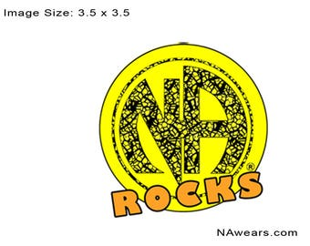 NA - NA ROCKS - white or black T-shirt - S-3X  - 100% cotton.  heat press t's