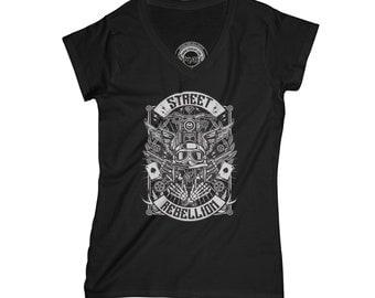 Motorcyclist t-shirt rebel t shirt wings shirt biker t-shirt rider t shirt rocker tshirt grunge t-shirt    APV81