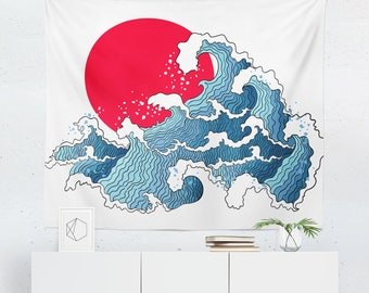 Genial Wave Wall Decor | Oriental Tapestry | Wave Wall Art | Wave Tapestry | Wave  Wall