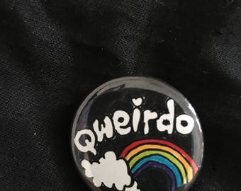 """qweirdo 1.25"""" pinback button"""