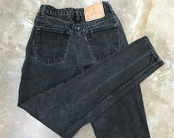 Vintage 512 Levi's Black Slim Fit Tapered Leg   extra small   xs   24   25