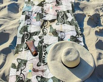 "Beach Towel ""Specticats"" 30"" x 60"""